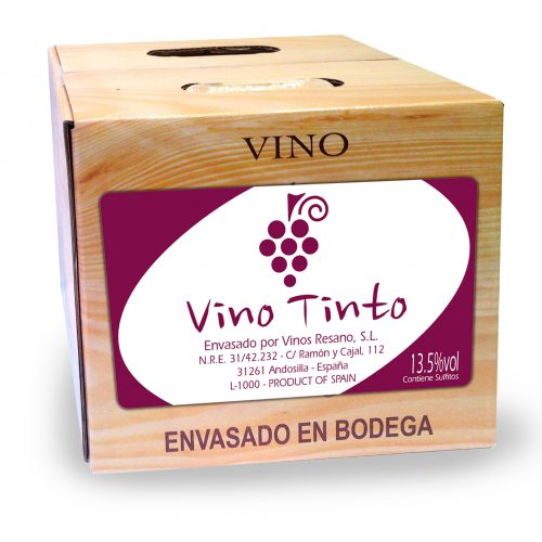BAG IN BOX 5L, 10L Y 15L , TINTO
