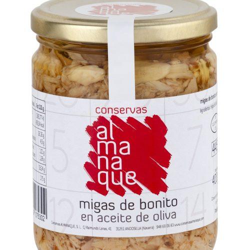Migas De Bonito En Aceite, Fr.445ml, Conservas Almanaque, Andosilla