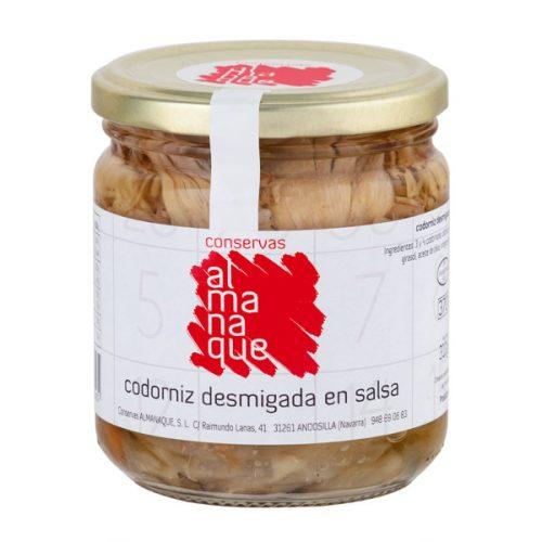 Codorniz Desmigada En Salsa, Fr.370ml, Conservas Almanaque, Andosilla