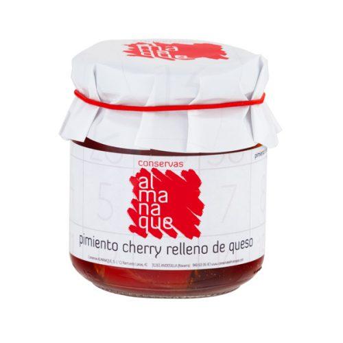 Pimiento Cherry Relleno De Queso, Fr.212ml, Conservas Almanaque, Andosilla