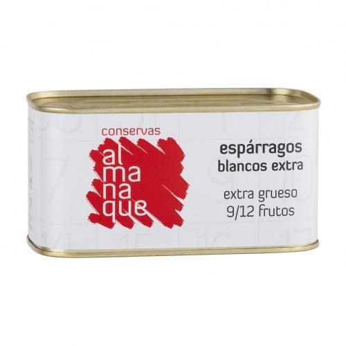 Espárrago Extra 9/12 Frutos, Lata Rectangular 850ml, Conservas Almanaque, Andosilla