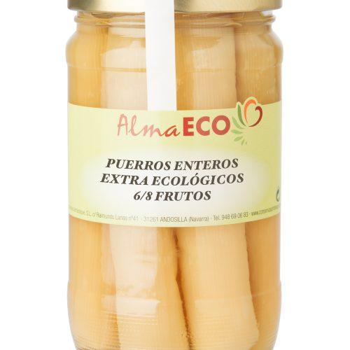 Puerro Entero Ecológico, 6/8 Frutos, AlmaECO, Andosilla